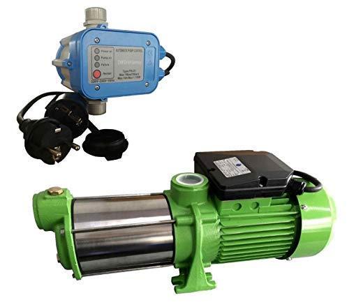 selpumpe INOX HMC145 + Steuerung PS-01 Trockenlaufschutz - Leistung: 1100W - Spannung: 230 V / 50 Hz 9000 L/h - 150l/min. 5 bar. Laufräder aus Edelstahl. ()