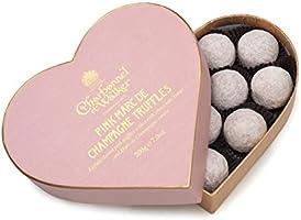 Charbonnel et Walker Pink Marc de Champagne Truffles in Heart Shaped Box 200 g
