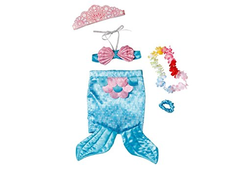 Meerjungfrau-baby-puppe (Zapf Creation – 819920 – Baby Born Deluxe – Meerjungfrau – Original Bekleidung)