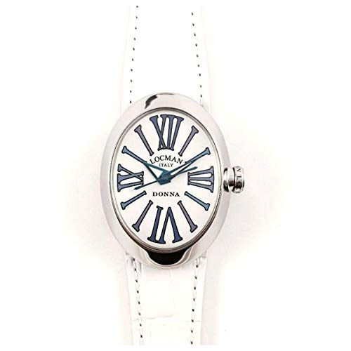 Locman Reloj Análogo clásico para Mujer de Cuarzo con Correa en Cuero 4102NAGVTBLPSV