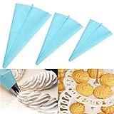 Anwaz 39 CM Große Blaue Silikon Wiederverwendbare Cupcake Kuchenglasur Friedliche Tasche Gebäck Sahne Dekorieren Taschen Küche Werkzeug