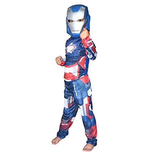 ASJUNQ Spider-Man Iron Man Enge Kleidung Kinder Rollenspiel Film Kostüm Thema Party Requisiten Halloween,C-S