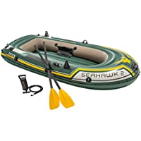 Intex - Barca hinchable Seahawk 2 & remos, 236 x 114 x 41 cm (68347)