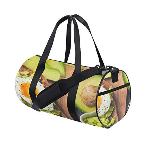 Plosds Duftende und attraktive Avocado Custom Multi leichte große Yoga Gym Totes Handtasche Reise Canvas Duffel Taschen mit Schulter Crossbody Fitness Sport Gepäck für Jungen Mädchen Mens Womens