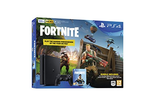 Sony Playstation 4 500GB Console (Black) with Fortnite and Royal Bomber Pack DLC