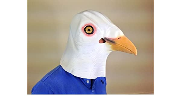 Pigeon Mask Latex Full Head Fancy Dress Party Stag Animal Masks