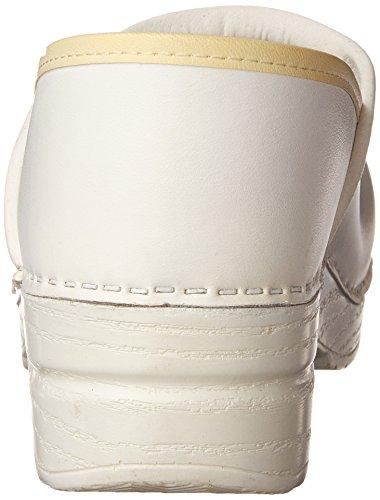 Dansko donne 's Professional Box Pelle Zoccoli Bianco