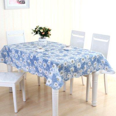 MH-RITA Wasserdicht Cleaning Free Kunststoff Tischdecke PVC Tischdecke Couchtisch Tuch G 137 * 150 Hohe (Kunststoff Tischdecke Klar Schneeflocke)