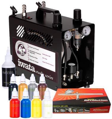 Iwata Professional Body Art Airbrush-Kit mit Power Jet Pro Kompressor -