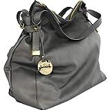 glorreich COLOGNE DIE FEINE grau - Große Damentasche aus butterweichem echtem Leder - handgefertigt in Italien - Beuteltasche - Hobo Bag - Shopper