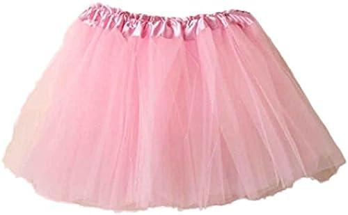 Tüllrock Damen, FNKDOR Mini Ballett Rüschen Unterkleid Tutu Ballettröckchen
