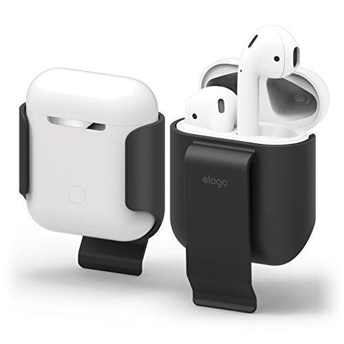 Porta auricolari, clip da cintura per AirPod, pratica portabilità, protezione, rivestimento morbido