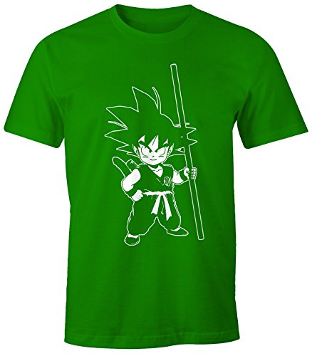 Herren T-Shirt - Son Goku Kid Super Saiyajin - Comfort Fit MoonWorks® Grün