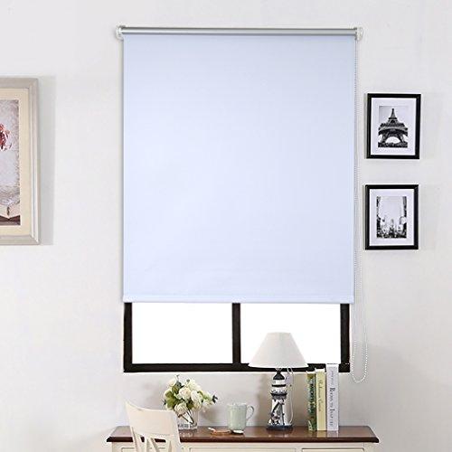 SHINY HOME Rollo Verdunkelungsrollo blickdicht Klemmrollo mit Klemmträgern für Fenster ohne Bohren Klemmfix Sonnenschutzrollo Lichtundurchlässig 120x230cm Weiß