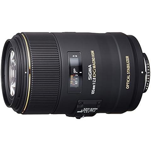 Sigma 105mm F2.8 EX DG OS HSM - Objetivo para Nikon (distancia focal fija 105mm, apertura f/2.8-22, diámetro 79mm),