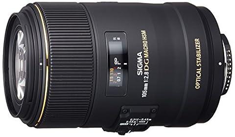 Sigma 105 mm F2,8 EX Makro DG OS HSM-Objektiv (62 mm Filtergewinde) für Nikon Objektivbajonett