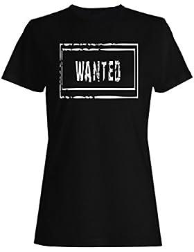 Deseado, sarcasmo, divertido, sello, vintage camiseta de las mujeres f288f