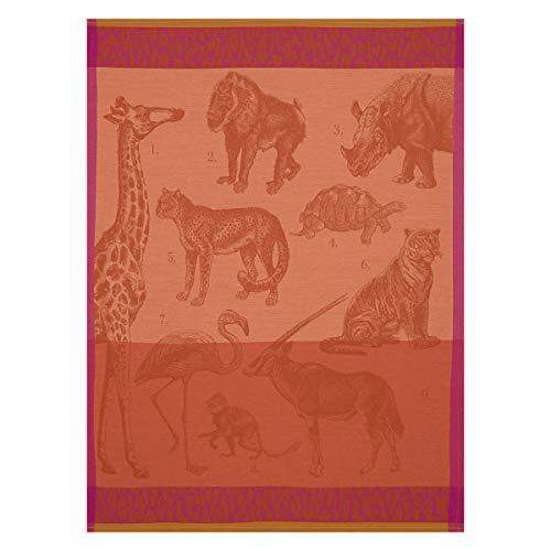LE JACQUARD FRANÇAIS - Torchon Safari Fauve 60x80 100% Coton - Rectangulaire - 60 x 80 cm
