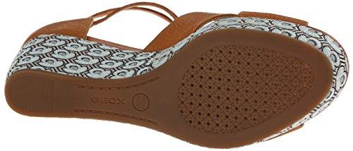 Geox - Thelma, Sandalo col tacco Donna Braun (Biscuit)