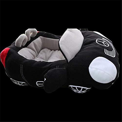 CCHM Kühlen Welpen Haustier Hundebett Mode Auto Form weiches Material langlebig Nest Hunde Katzen Haus warmes Kissen,Black -
