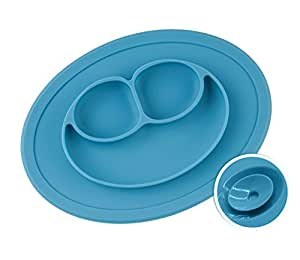 Chuckle Baby Placemats - Divider Food Trays Tovagliette in Silicone per Bambini - Multi-scomparto