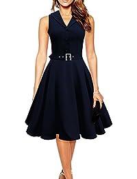 WintCO Vestidos de Fiesta para Bodas Vestidos Retro Vintage Waltz Rockabilly Audrey Hepburn de Años 50
