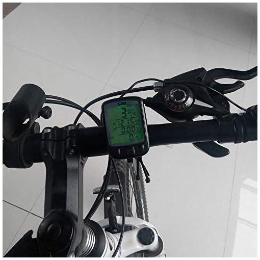 Docooler Wireless Bike Bicicletta Cycling Computer Contachilometri Tachimetro Retroilluminazione LCD Retroilluminato Impermeabile Multifunzione