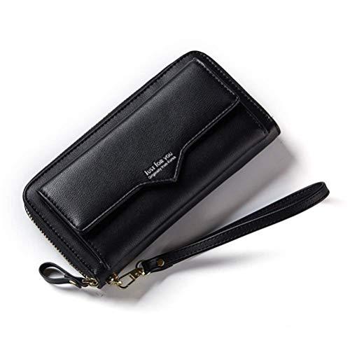 Pureed protezione delle donne rfid con borsa escursionismo moda elegante portafoglio portafoglio borsa delle signore portafoglio lungo portafoglio donna frizione regalo lungo blu