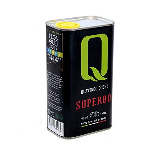 Olio extra vergine di oliva superbo 100% moraiolo quattrociocchi (1 lt)