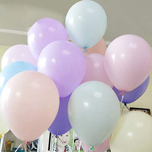 gzzebo Globos de látex de Color Mezclado de 10 Pulgadas para Boda decoración de Fiesta de cumpleaños 100 Piezas Color Mezclado
