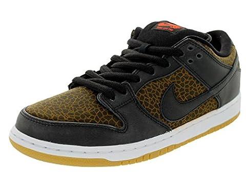 Nike Herren Dunk Low Premium SB Schwarz/Schwarz/Team Orange Skate Schuhe 8.5 Men US
