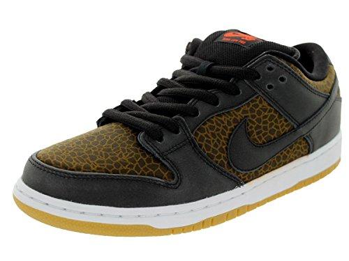 Nike Dunk Skate (Nike Herren Dunk Low Premium SB Schwarz/Schwarz/Team Orange Skate Schuhe 8.5 Men US)