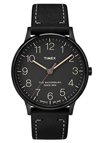 Timex Reloj Analógico para Hombre de Cuarzo con Correa en Cuero TW2P95900
