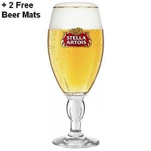 Stella Artois Half Pint 10oz New Style Chalice Glass (Set of 2)