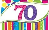 Creative Converting hell und Bold 8Zählen Einladungskarten zum 40. Geburtstag 60
