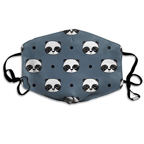 Panda Blue Grey Panda Head Best Illustration