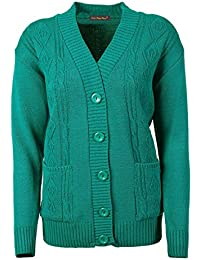 f88260a8fb Lets Shop Shop New Classic Womens Cardigan Ladies Sizes 10-20 Cable Knit  Long Sleeve