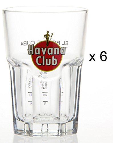 Original Havana Club Rum Gläser 6 Longdrink Rumgläser