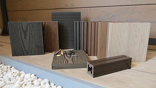 MUSTERBOX WPC Terrassendielen mit Zubehör, HANDMUSTER