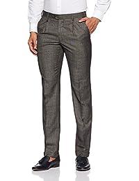 Park Avenue Men's Pleat-Front Rayon Formal Trousers