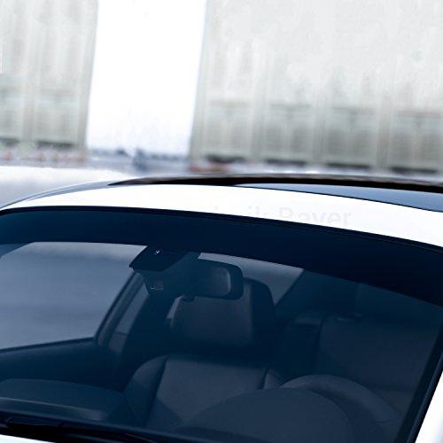 Folientechnik Bayer 1023 Sonnenschutz Frontscheibe kompatibel mit Volkswagen Golf 7 GTI R GTE GTD Performance Keil Blendstreifen Tuning (Schwarz)