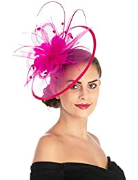 7348199bc6053 Lucky Leaf Women Girl Fascinators Hair Clip Hairpin Hat Feather Cocktail  Wedding Tea Party Hat and