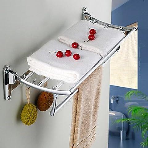 Tiburones peces d acero inoxidable cromado baño plegada toallero baño baño accesorios de hardware estantes de