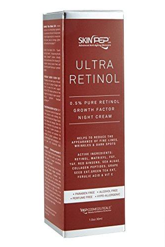 SkinPep Ultra Retinol 0.5% Serum 30ml - Helps To Reduce The Appearance Of Fine Lines + wrinkles + dark spots + 0.5% Pure Retinol - SkinPep...