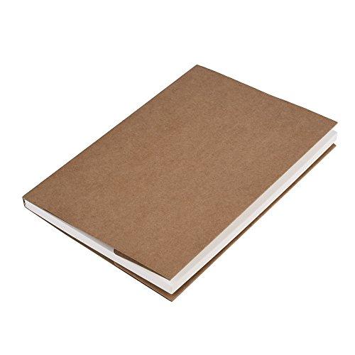 Skizzenblock Skizzenbuch Zeichenblock Papier für Künstler, 5.0 * 7.5 Zoll, 62 Sheets (Kraftpapierabdeckung)