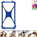 K-S-Trade Bumper für Hisense A1 Silikon Schutz Hülle Handyhülle Silikoncase Softcase Cover Case Stoßschutz, blau (1x)