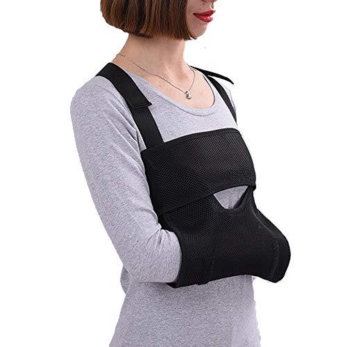 Handgelenk Frakturen (AOPAMOX Armschlinge Schulterschlinge - zum Arms, Schulter und Handgelenk Verletzungen oder Frakturen,Armschlinge, für Erwachsene, schwarz, zur Ruhigstellung der Schulter)