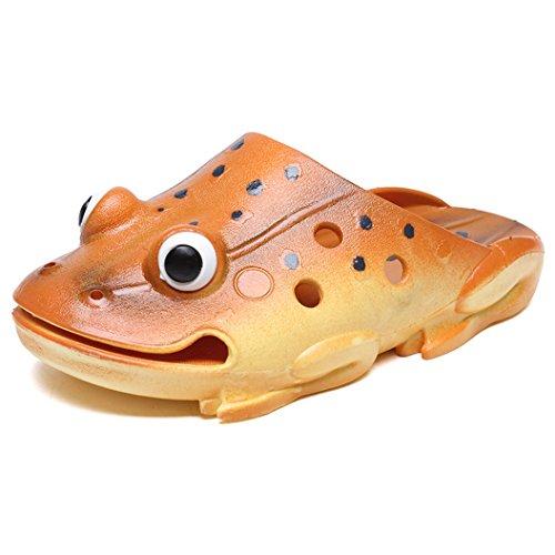 Unisex Kinder Hausschuhe Flip Flops Lustige Strand Slippers Badeschuhe Sommer Ultraleicht Rutschfeste Frosch Pantoffeln Schuhe für Mädchen Jungen Gr.21~40