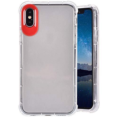 """Preisvergleich Produktbild MeganStore Schutzhülle für iPhone XS Max,  ultradünn,  stoßabsorbierend,  für Apple iPhone XS Max,  6, 5"""",  transparent rot"""
