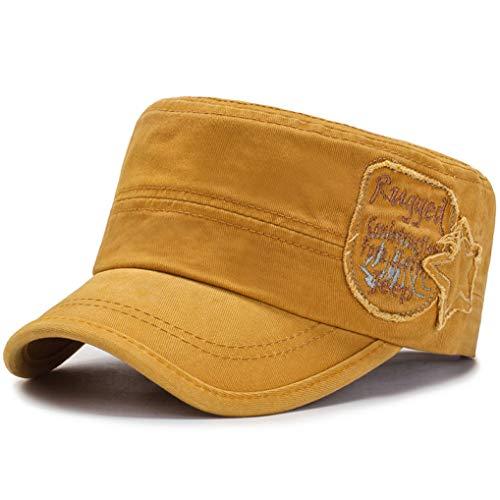 Color sólido Plano Superior Sombrero Militar